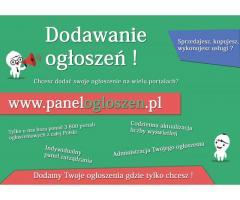 Chcesz dodać ogłoszenie na wielu portalach? Zrobimy to za Ciebie. Dodajemy ogłoszenia w całej Polsce