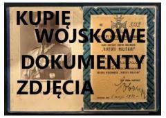 Kupię wojskowe Stare Dokumenty,zdjecia,Legitymacje telefon 694972047